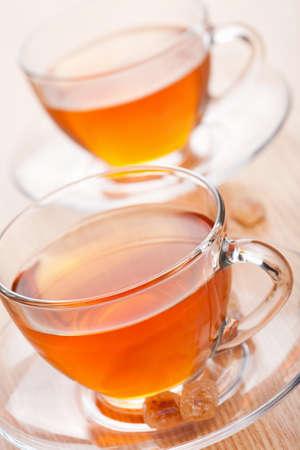 tea and cane sugar Stock Photo - 9151474