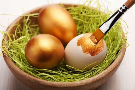painting easter eggs Stock Photo - 9151644