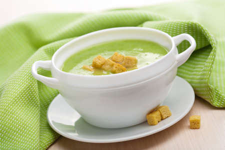 green vegetable soup  photo