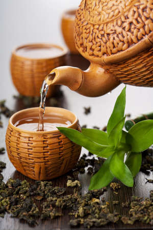 benefits: green tea Stock Photo