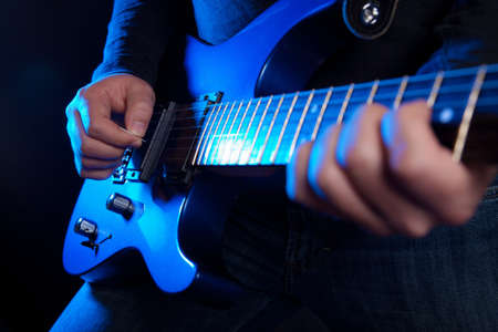 guitarra: guitarrista de rock