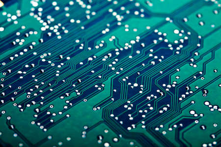 electric circuit: electronic circuit board  Stock Photo