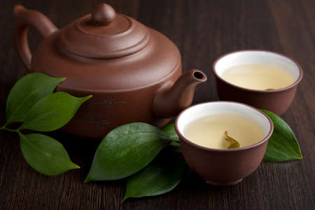 oolong: green tea Stock Photo