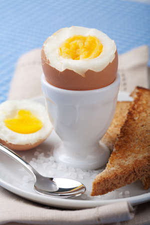 boiled eggs: boiled egg in egg cup