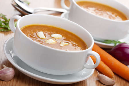 creamy: vegetable soup