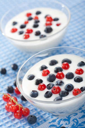 yogurt with berries photo