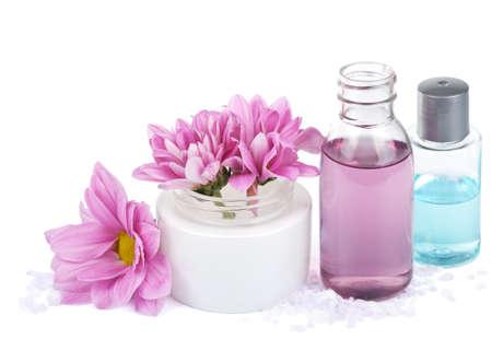conjunto de cosmética natural aislado