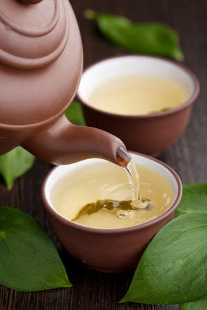 chinese tea cup: green tea