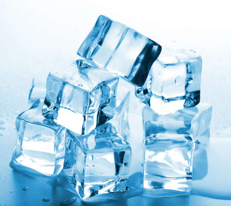 melting ice cubes photo