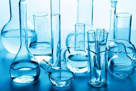 glassware: chemical laboratory glassware Stock Photo