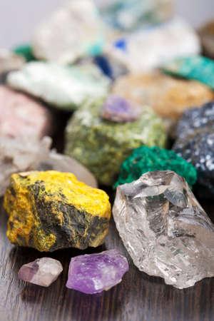 mineralogy: various minerals  Stock Photo