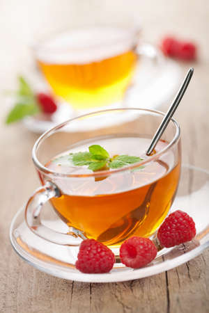 tea with mint and berry  photo