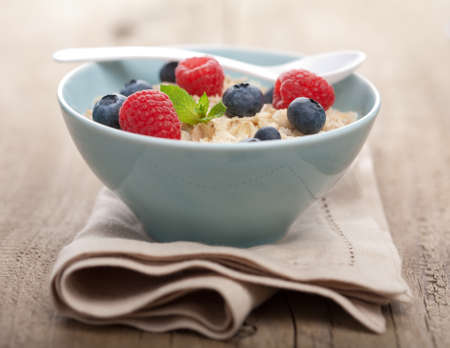 porridge with fresh berries  Stock Photo - 10022843