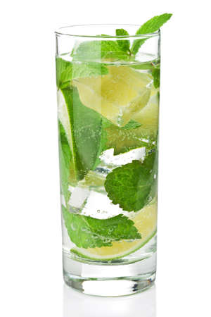 fresh mojito cocktail isolated photo