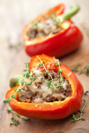 stuffed paprika with meat and vegetables  photo
