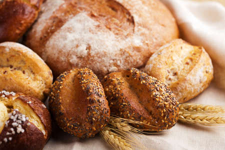 fiber food: various healthy bread
