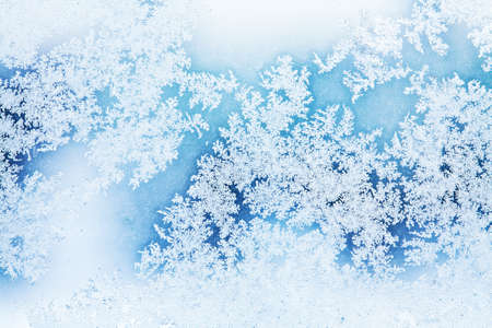 rime frost: winter rime background Stock Photo