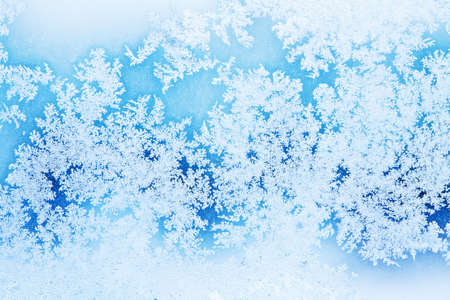 ice crystals: winter rime background Stock Photo