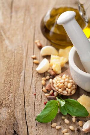 ingredients for pesto sauce  Stock Photo - 10883133