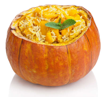 pumpkin risotto isolated photo