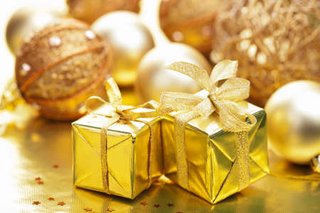 christmas gifts and decoration photo