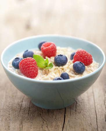 porridge with fresh berries