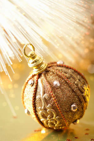 golden christmas ball Stock Photo - 11099268