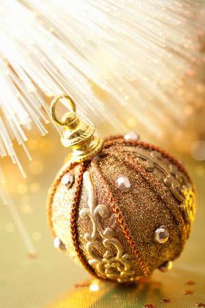 golden christmas ball Stock Photo - 11099268