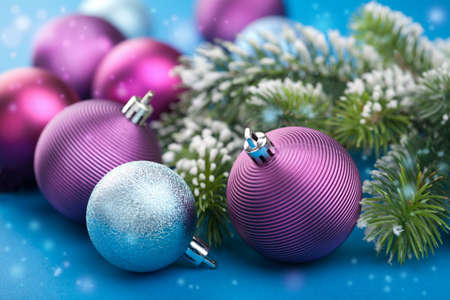 colorful christmas balls  Stock Photo - 11099273