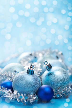 blue christmas decoration  photo