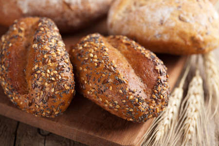 wholemeal: various healthy bread  Stock Photo