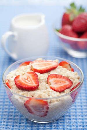 healthy breakfast with porridge  photo