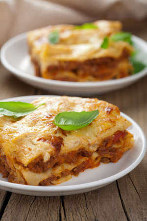 classic lasagna bolognese  photo