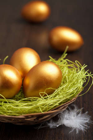 golden easter eggs photo