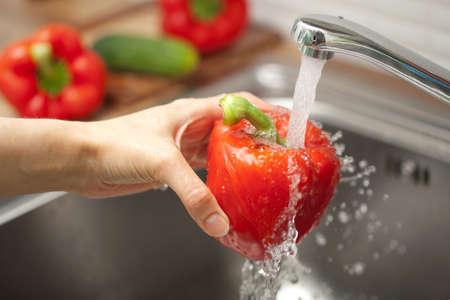 washing vegetable  photo