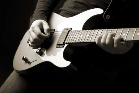 rock guitarist  Stock Photo - 12446738