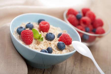 porridge with fresh berries Stock Photo - 14427284