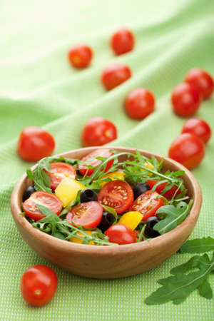 fresh vegetable salad  photo