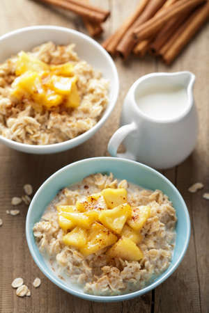 cereal with caramelized apple  photo