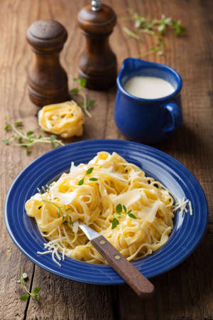 tagliatelle alfredo Stock Photo - 15472950