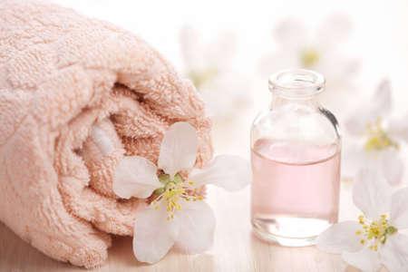 spa en aromatherapie set Stockfoto
