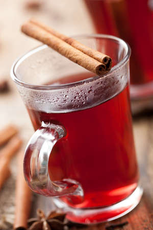 grog: glass of mulled wine Stock Photo