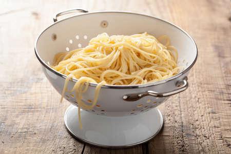 colander: spaghetti in colander