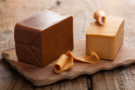 goat cheese: Norwegian brunost cheese