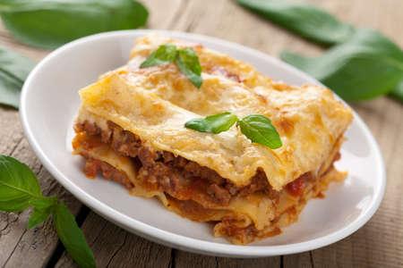 klassieke lasagne bolognese Stockfoto