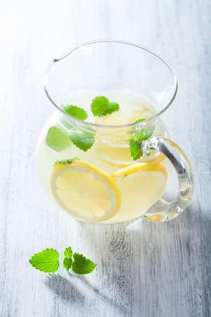 fresh lemonade in jar photo