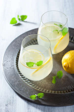 fresh lemonade in glasses  photo