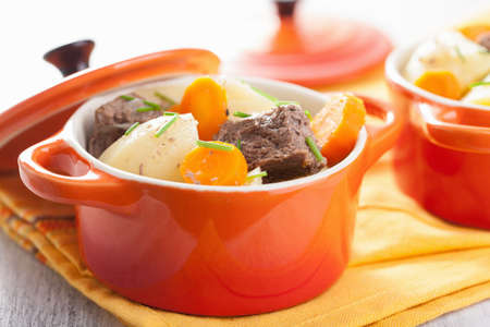 beef stew: beef stew with potato and carrot