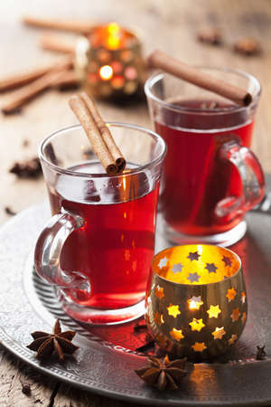 mulled: glass of mulled wine