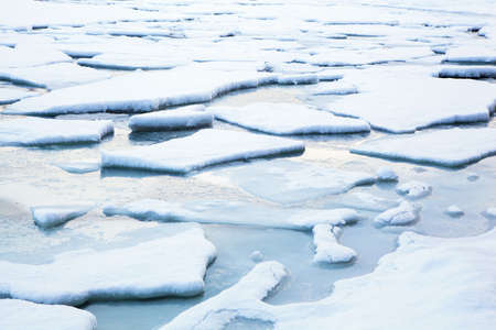 floe: ice flow winter landscape Stock Photo